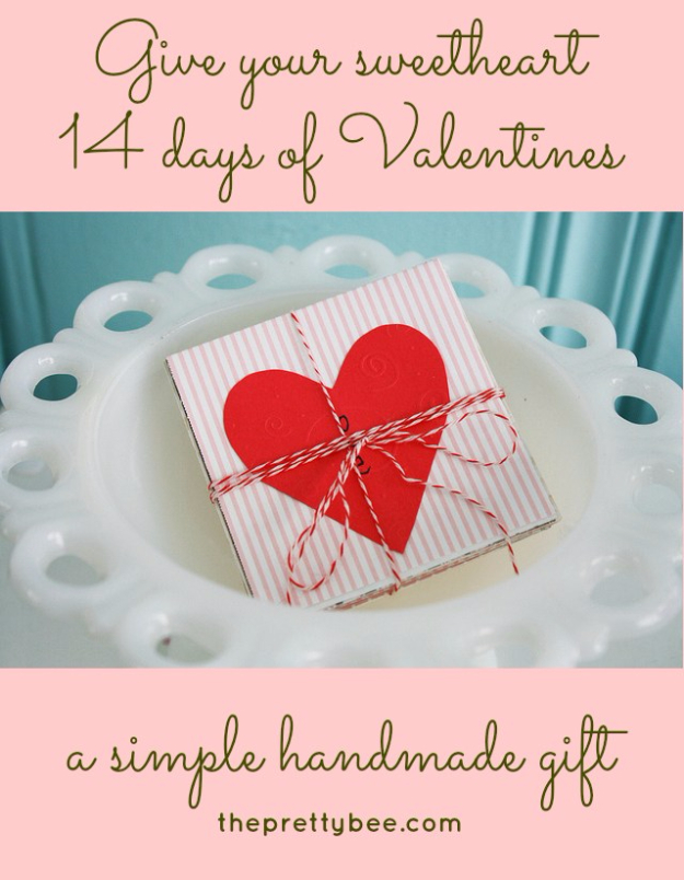 DIY Valentines Day Cards - 14 Days Of Valentine Card - Easy Handmade Cards for Him and Her, Kids, Freinds and Teens - Funny, Romantic, Printable Ideas for Making A Unique Homemade Valentine Card - Step by Step Tutorials and Instructions for Making Cute Valentine's Day Gifts #valentines