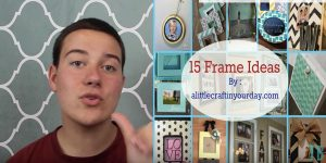 Watch These Great Ideas He Shows Us For Changing Up Boring Picture Frames (Awesome)!