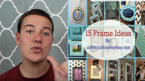 Watch These Great Ideas He Shows Us For Changing Up Boring Picture Frames (Awesome)! | DIY Joy Projects and Crafts Ideas