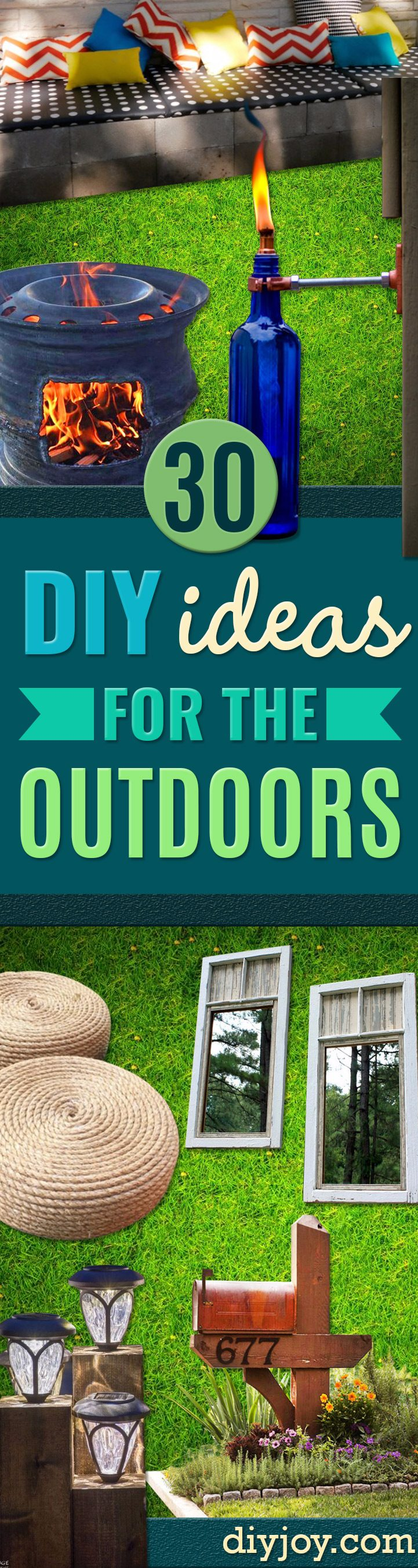 diy ideas outdoors DIY - Best Do It Yourself Ideas for Yard Projects, Camping, Patio and Spending Time in Garden and Outdoors - Step by Step Tutorials and Project Ideas for Backyard Fun, Cooking and Seating