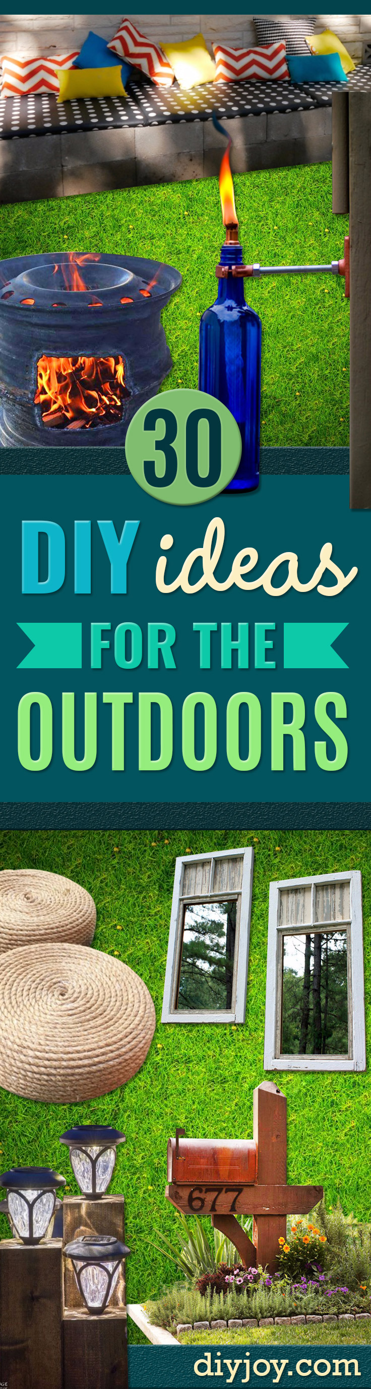 diy ideas outdoors DIY - Best Do It Yourself Ideas for Yard Projects, Camping, Patio and Spending Time in Garden and Outdoors - Step by Step Tutorials and Project Ideas for Backyard Fun, Cooking and Seating #diy