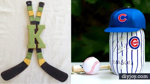 30 Cool DIY Ideas for The Sports Fan In Your Life | DIY Joy Projects and Crafts Ideas