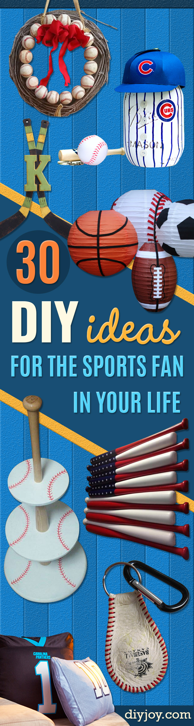 DIY Projects for the Sports Fan - Crafts and DIY Ideas for Men - Football, Baseball, Basketball, Soccer and Golf - Wall Art, DIY Gifts, Easy Gift Ideas, Room and Home Decor