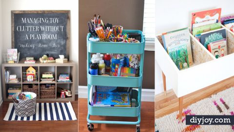 30 diy organizing ideas for kids rooms rh diyjoy com Organizing Your Craft Room Storage Room Organization