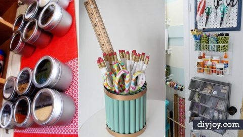 31 DIY Organization Ideas To Keep You Organized Year Round | DIY Joy Projects and Crafts Ideas