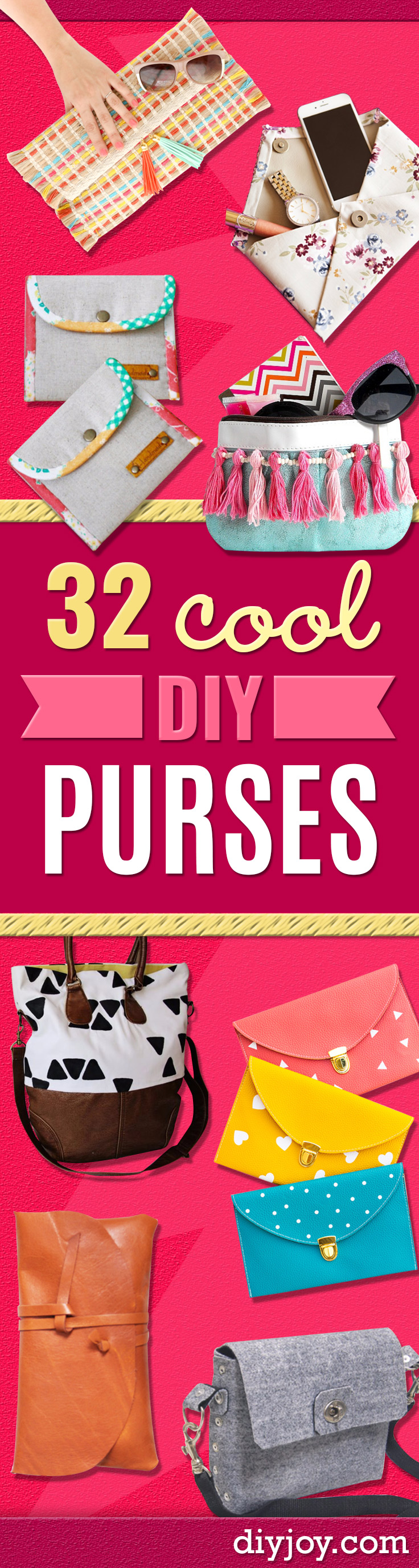 DIY Purses and Handbags - Homemade Projects to Decorate and Make Purses - Add Paint, Glitter, Buttons and Bling To Your Hand Bags and Purse With These Easy Step by Step Tutorials - Boho, Modern, and Cool Fashion Ideas for Women and Teens