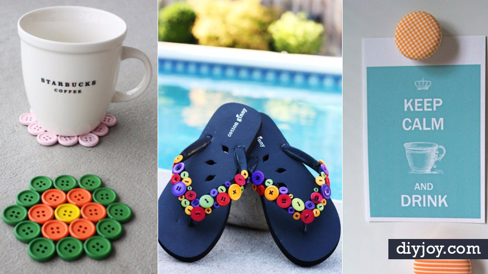 diy projects and crafts made with buttons easy and quick projects