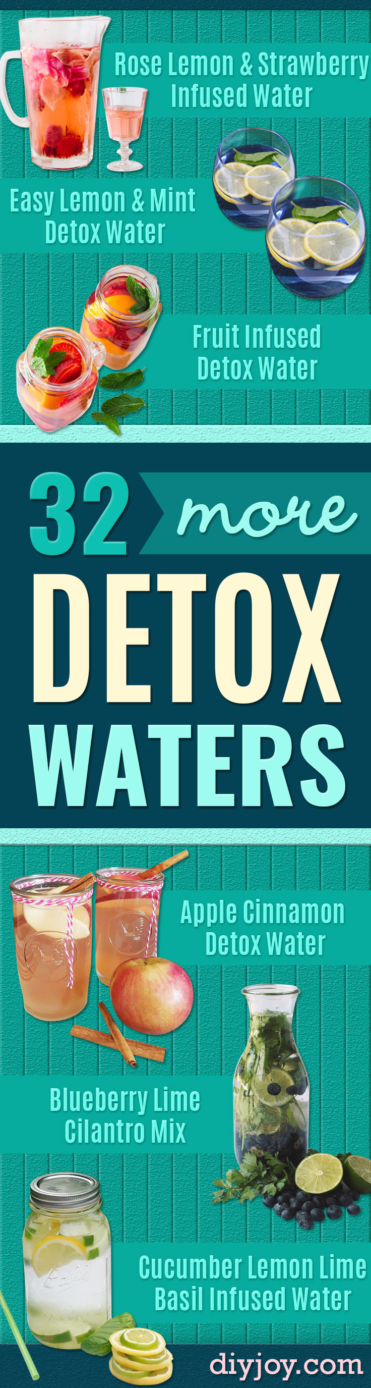 DIY Detox Water Recipes - Easy Recipe Ideas for Detox Waters to Lose Weight, Promote Healthy Skin and Body