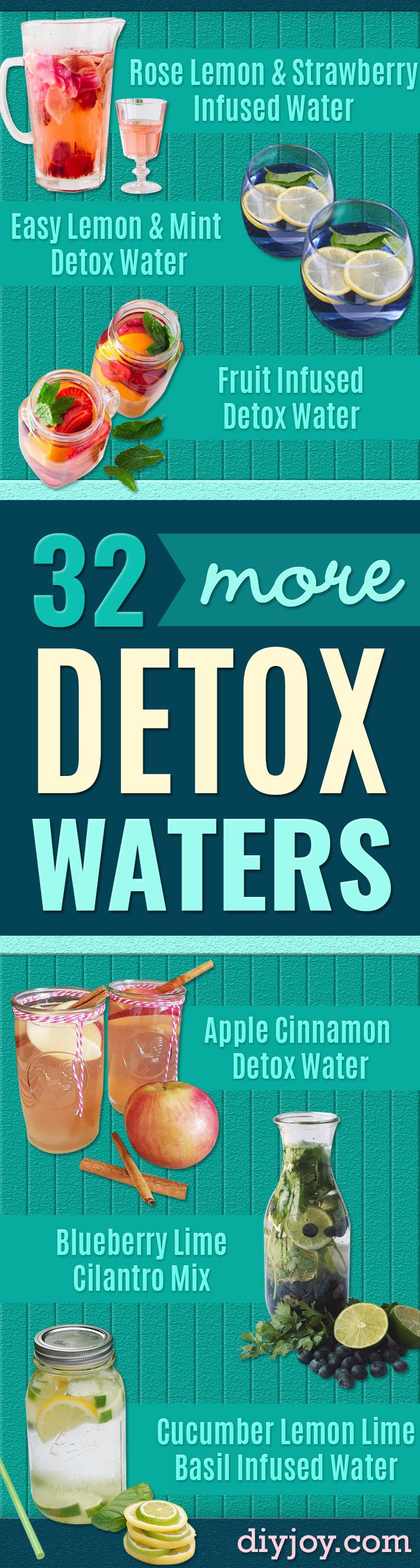 32 Homemade Detox Water Recipes