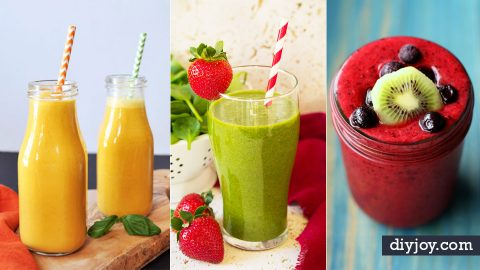 34 Healthy Smoothie Recipes For Breakfast or Anytime Snack | DIY Joy Projects and Crafts Ideas