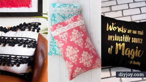 35 DIY Pillowcases To Make For Any Room | DIY Joy Projects and Crafts Ideas