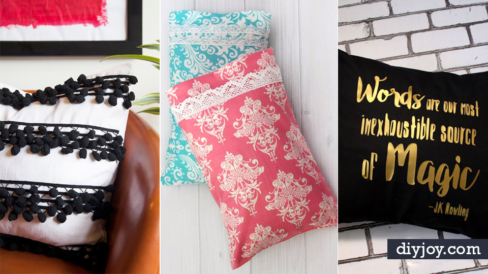 DIY Pillowcases   Easy Sewing Projects For Pillows   Bedroom And Home Decor  Ideas   Sewing