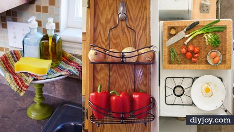 40 Cool DIY Ways to Get Your Kitchen Organized | DIY Joy Projects and Crafts Ideas