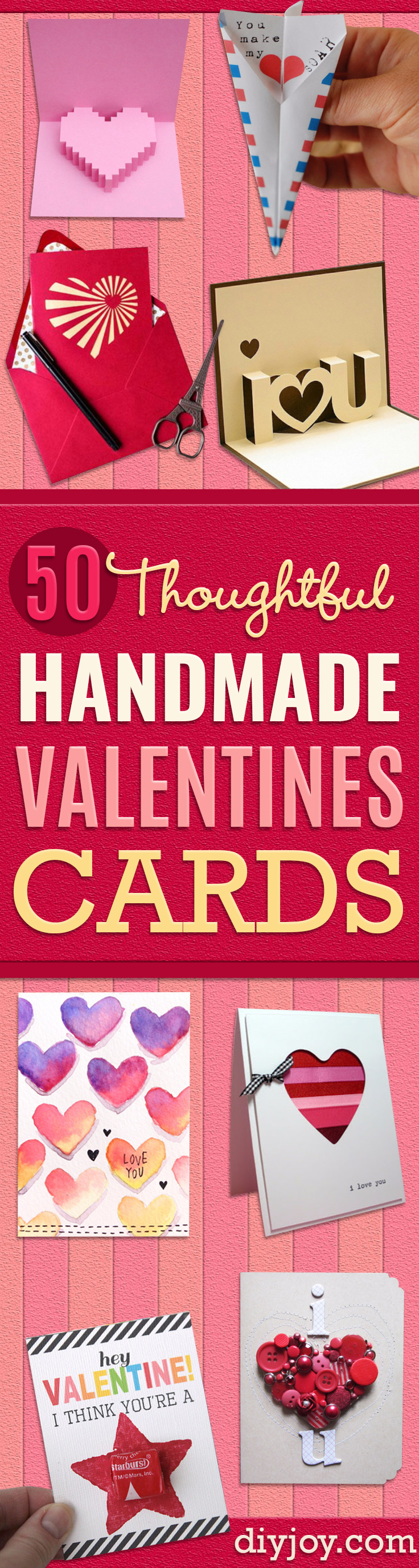 50 Thoughtful Handmade Valentines Cards DIY Joy – Handmade Valentine Day Card
