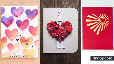 50 Thoughtful Handmade Valentines Cards DIY Joy – Hand Made Valentine Cards
