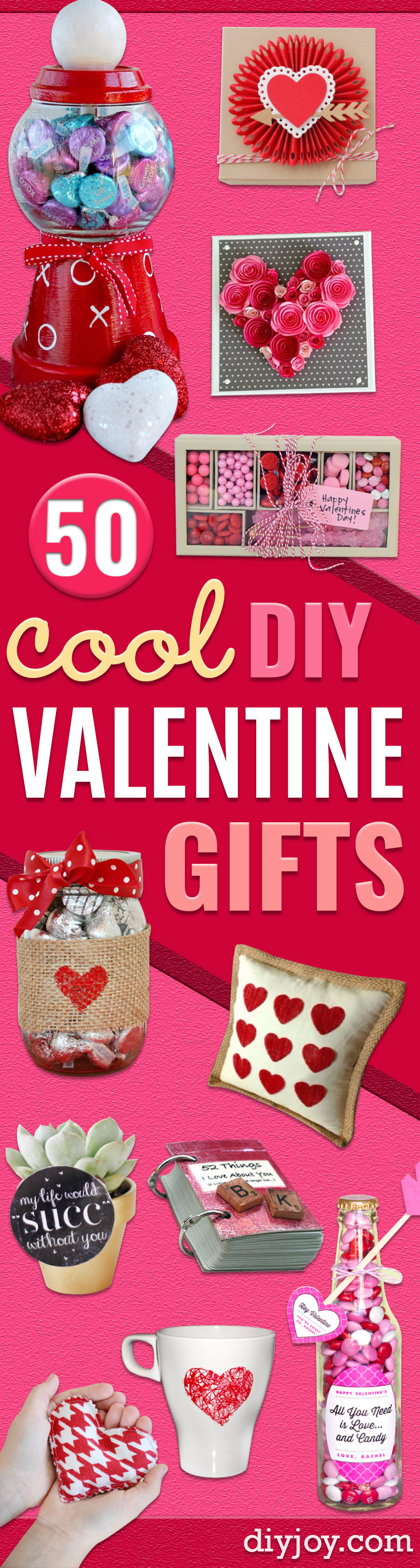 Best DIY Valentines Day Gifts - Cute Mason Jar Valentines Day Gifts and Crafts for Him and Her | Boyfriend, Girlfriend, Mom and Dad, Husband or Wife, Friends - Easy DIY Ideas for Valentines Day for Homemade Gift Giving and Room Decor |  Creative Home Decor and Craft Projects for Teens, Teenagers, Kids and Adults http://diyjoy.com/diy-valentines-day-gift-ideas