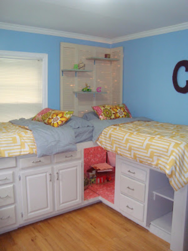 DIY Organizing Ideas for Kids Rooms - Beds With Storage - Easy Storage Projects for Boy and Girl Room - Step by Step Tutorials to Get Toys, Books, Baby Gear, Games and Clothes Organized - Quick and Cheap Shelving, Tables, Toy Boxes, Closet Tips, Bookcases and Dressers - DIY Projects and Crafts http://diyjoy.com/diy-organizing-ideas-kids-rooms