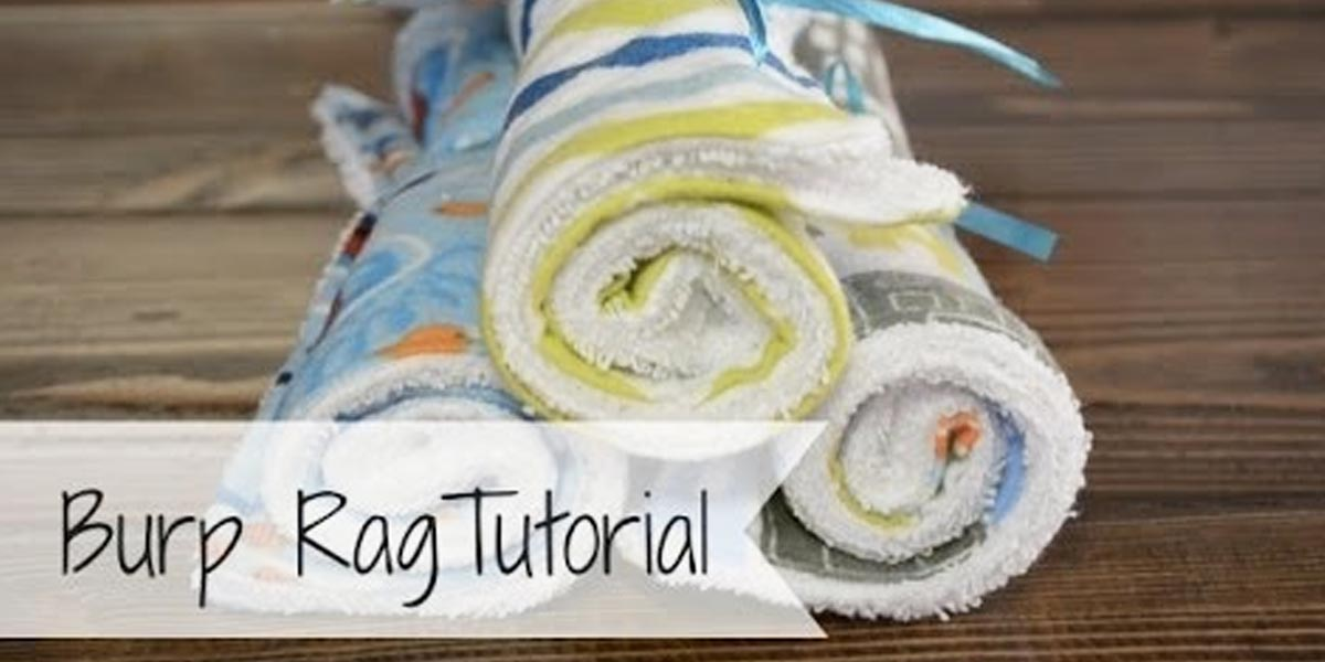 DIY Ideas for Newborn - Best Burp Rags - Do It Yourself Projects for the New Baby Boy or Girl - Nursery and Room Decor, Gear and Products, Safety Ideas and Other Practical Items Make Great DIY Baby Gifts