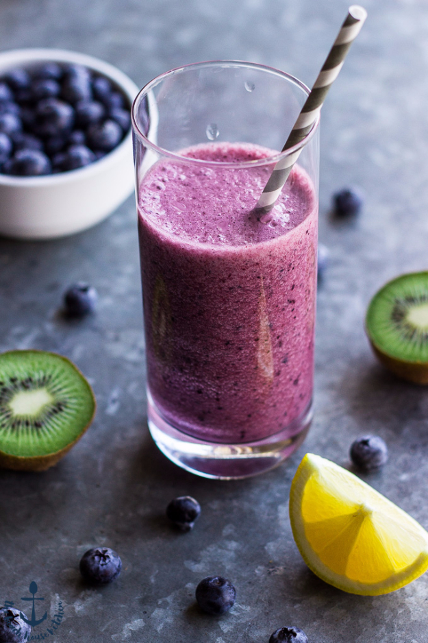 Healthy Smoothie Recipes - Blueberry Lemon Zinger Smoothie - Easy ...