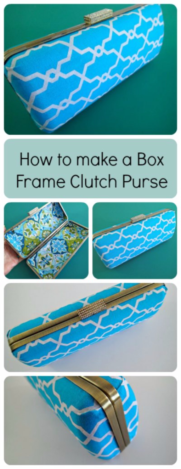 DIY Purses and Handbags - Box Frame Clutch Purse - Homemade Projects to Decorate and Make Purses - Add Paint, Glitter, Buttons and Bling To Your Hand Bags and Purse With These Easy Step by Step Tutorials - Boho, Modern, and Cool Fashion Ideas for Women and Teens #purses #diyclothes #handbags