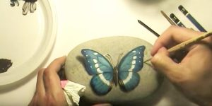 He Paints This Beautiful Butterfly On A Rock And Shows Us Step By Step How To Do This!