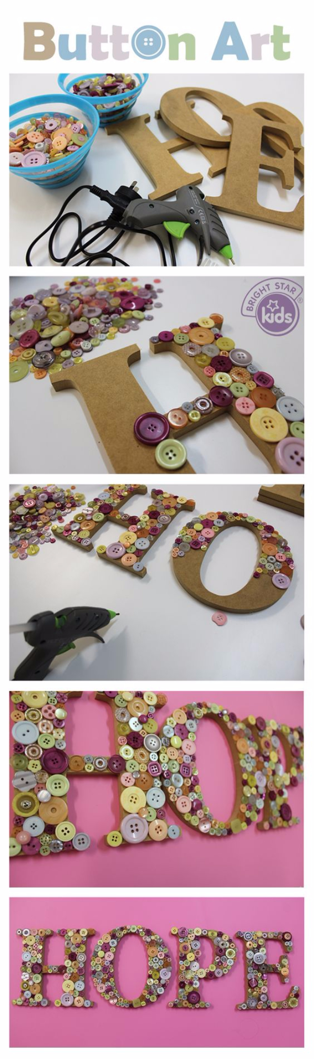 DIY Projects and Crafts Made With Buttons - Button Art - Easy and Quick Projects You Can Make With Buttons - Cool and Creative Crafts, Sewing Ideas and Homemade Gifts for Women, Teens, Kids and Friends - Home Decor, Fashion and Cheap, Inexpensive Fun Things to Make on A Budget