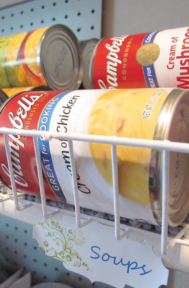 DIY Organizing Ideas for Kitchen - Canned Food Organization - Cheap and Easy Ways to Get Your Kitchen Organized - Dollar Tree Crafts, Space Saving Ideas - Pantry, Spice Rack, Drawers and Shelving - Home Decor Projects for Men and Women #diykitchen #organizing #diyideas #diy