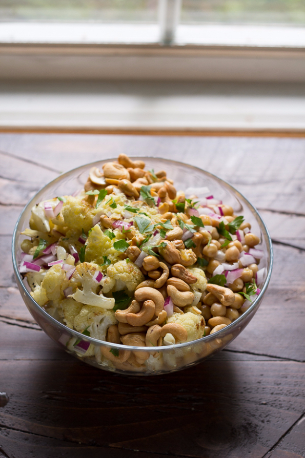 Healthy Lunch Ideas for Work - Cauliflower Cashew Lunch Bowls - Quick and Easy Recipes You Can Pack for Lunches at the Office - Lowfat and Simple Ideas for Eating on the Job - Microwave, No Heat, Mason Jar Salads, Sandwiches, Wraps, Soups and Bowls