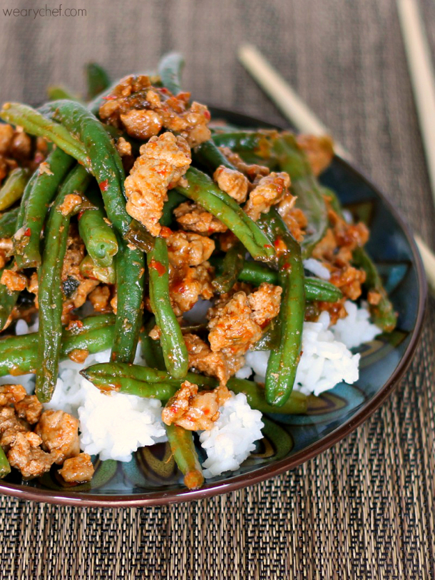 Quick and Healthy Dinner Recipes - Chinese Green Beans With Ground Turkey - Easy and Fast Recipe Ideas for Dinners at Home - Chicken, Beef, Ground Meat, Pasta and Vegetarian Options - Cheap Dinner Ideas for Family, for Two , for Last Minute Cooking #recipes #healthyrecipes