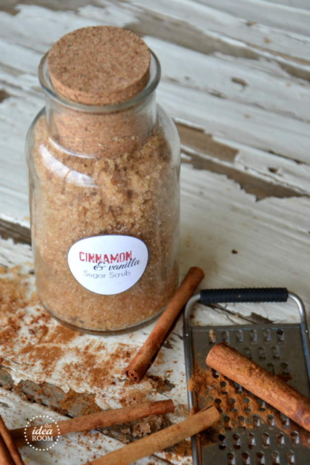 DIY Sugar Scrub Recipes - Cinnamon Vanilla Sugar Scrub - Easy and Quick Beauty Products You Can Make at Home - Cool and Cheap DIY Gift Ideas for Homemade Presents Women, Girls and Teens Love - Natural Recipe Ideas for Making Sugar Scrub With Step by Step Tutorials