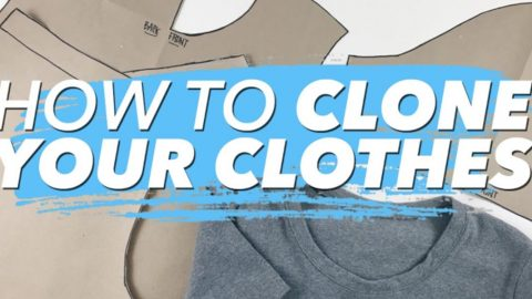 How To Clone Your Wardrobe And Make Patterns From Your