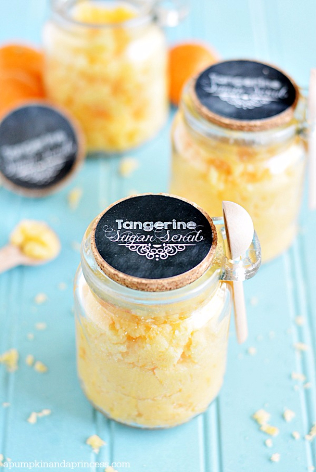 DIY Sugar Scrub Recipes - Coconut Tangerine Sugar Scrub - Easy and Quick Beauty Products You Can Make at Home - Cool and Cheap DIY Gift Ideas for Homemade Presents Women, Girls and Teens Love - Natural Recipe Ideas for Making Sugar Scrub With Step by Step Tutorials