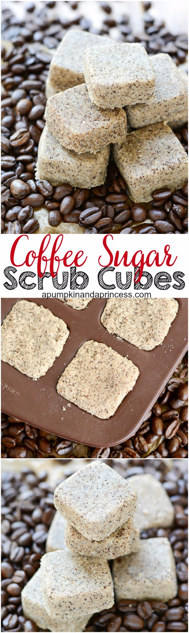 DIY Sugar Scrub Recipes - Coffee Sugar Scrub Cubes - Easy and Quick Beauty Products You Can Make at Home - Cool and Cheap DIY Gift Ideas for Homemade Presents Women, Girls and Teens Love - Natural Recipe Ideas for Making Sugar Scrub With Step by Step Tutorials