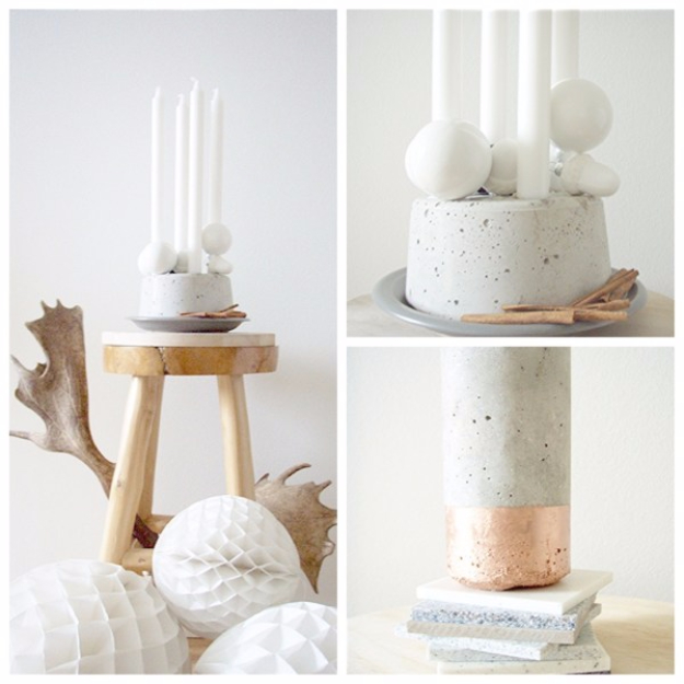 DIY Projects Made With Concrete - Concrete Votives - Quick and Easy DIY Concrete Crafts - Cheap and creative countertops and ideas for floors, patio and porch decor, tables, planters, vases, frames, jewelry holder, home decor and DIY gifts