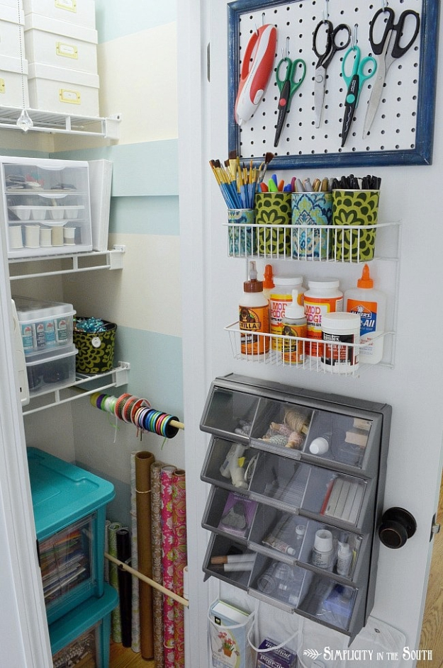 Best Organizing Ideas for the New Year - Craft Closet Organization - Resolutions for Getting Organized - DIY Organizing Projects for Home, Bedroom, Closet, Bath and Kitchen - Easy Ways to Organize Shoes, Clutter, Desk and Closets - DIY Projects and Crafts for Women and Men