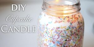 She Makes A Fabulously Colorful Cupcake Candle!