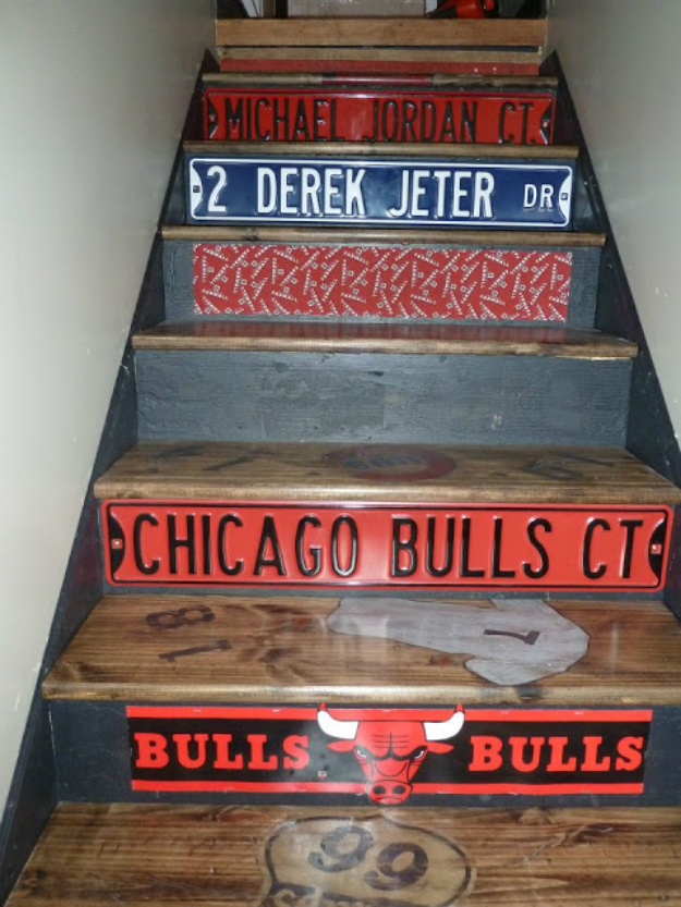 DIY Projects for the Sports Fan - Custom Track Door - Crafts and DIY Ideas for Men - Football, Baseball, Basketball, Soccer and Golf - Wall Art, DIY Gifts, Easy Gift Ideas, Room and Home Decor #sports #diygifts #giftsformen