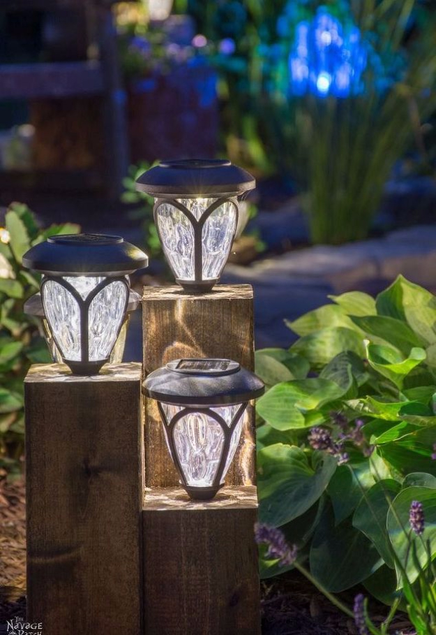 DIY Ideas for the Outdoors - DIY Cedar Cube Landscape Lights - Best Do It Yourself Ideas for Yard Projects, Camping, Patio and Spending Time in Garden and Outdoors - Step by Step Tutorials and Project Ideas for Backyard Fun, Cooking and Seating #diy