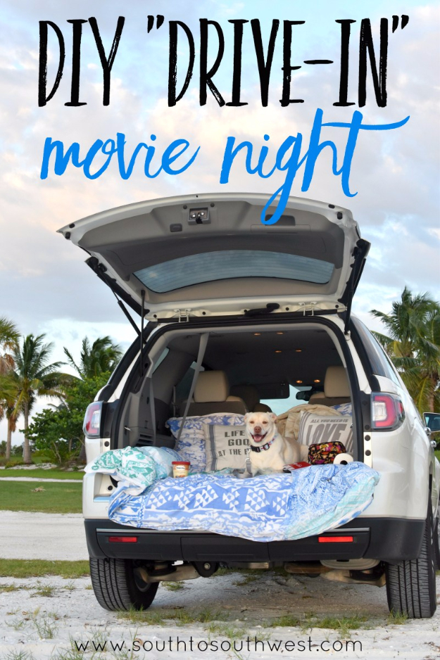 DIY Date Night Ideas - DIY Drive In Movie Night - Creative Ways to Go On Inexpensive Dates - Creative Ways for Couples to Spend Time Together creative date nights diy idea