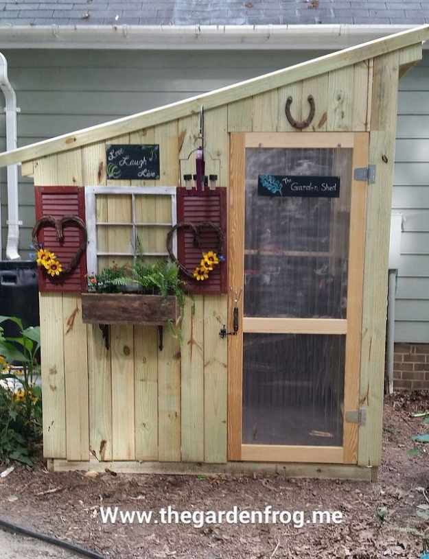 DIY Ideas for the Outdoors - DIY Fence Picket Garden Shed - Best Do It Yourself Ideas for Yard Projects, Camping, Patio and Spending Time in Garden and Outdoors - Step by Step Tutorials and Project Ideas for Backyard Fun, Cooking and Seating #diy