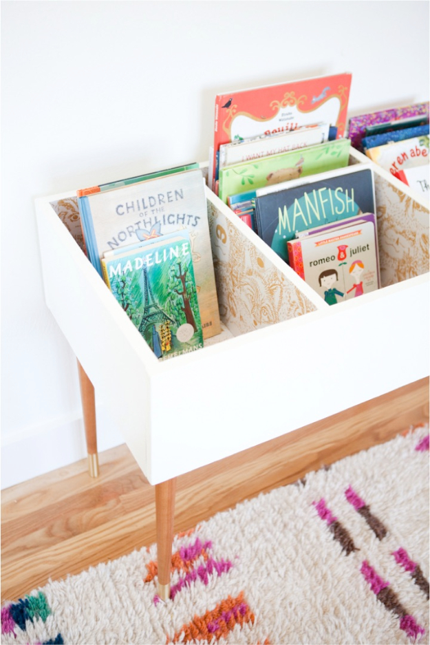 DIY Organizing Ideas for Kids Rooms - DIY Kids Book Bin - Easy Storage Projects for Boy and Girl Room - Step by Step Tutorials to Get Toys, Books, Baby Gear, Games and Clothes Organized #diy #kids #organizing
