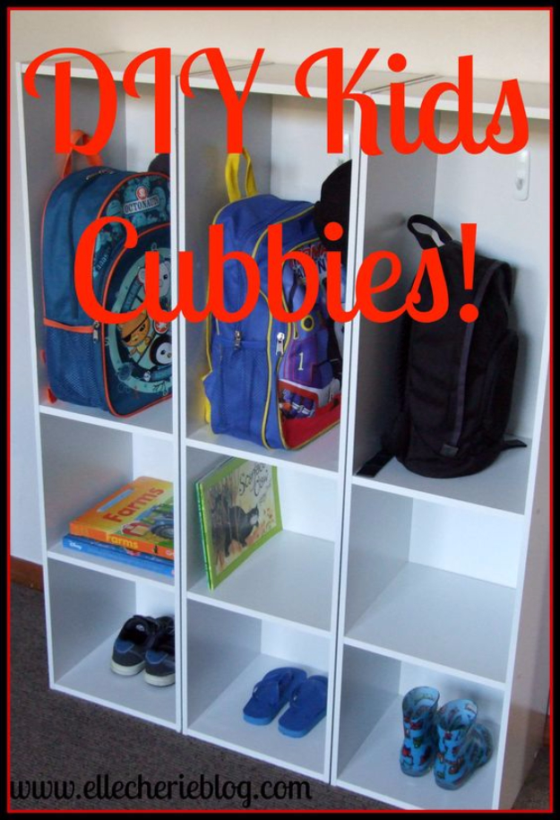 DIY Organizing Ideas for Kids Rooms - DIY Kids Cubbies - Easy Storage Projects for Boy and Girl Room - Step by Step Tutorials to Get Toys, Books, Baby Gear, Games and Clothes Organized #diy #kids #organizing