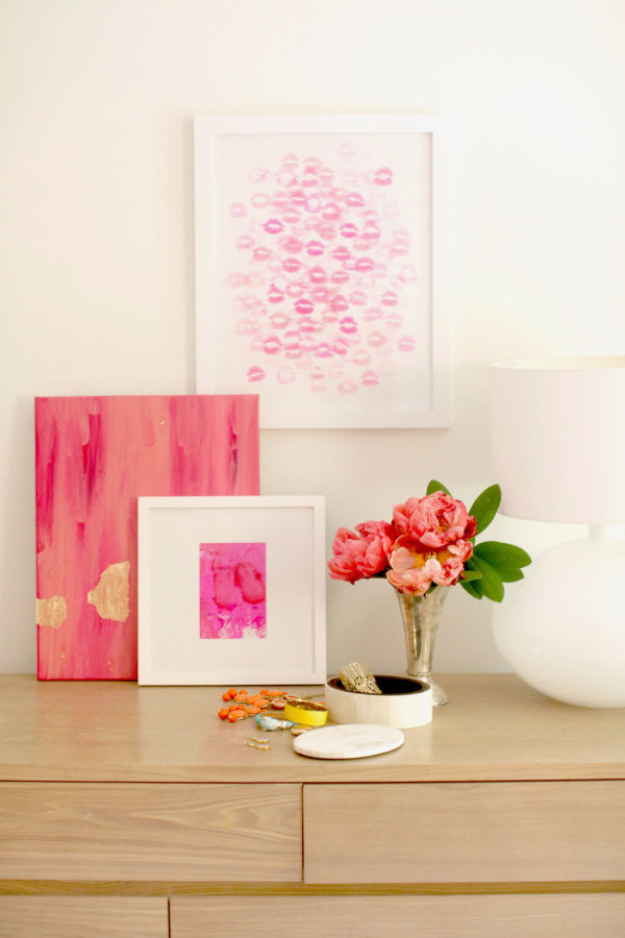 Best DIY Valentines Day Gifts - DIY Kiss Artwork - Cute Mason Jar Valentines Day Gifts and Crafts for Him and Her | Boyfriend, Girlfriend, Mom and Dad, Husband or Wife, Friends - Easy DIY Ideas for Valentines Day for Homemade Gift Giving and Room Decor | Creative Home Decor and Craft Projects for Teens, Teenagers, Kids and Adults