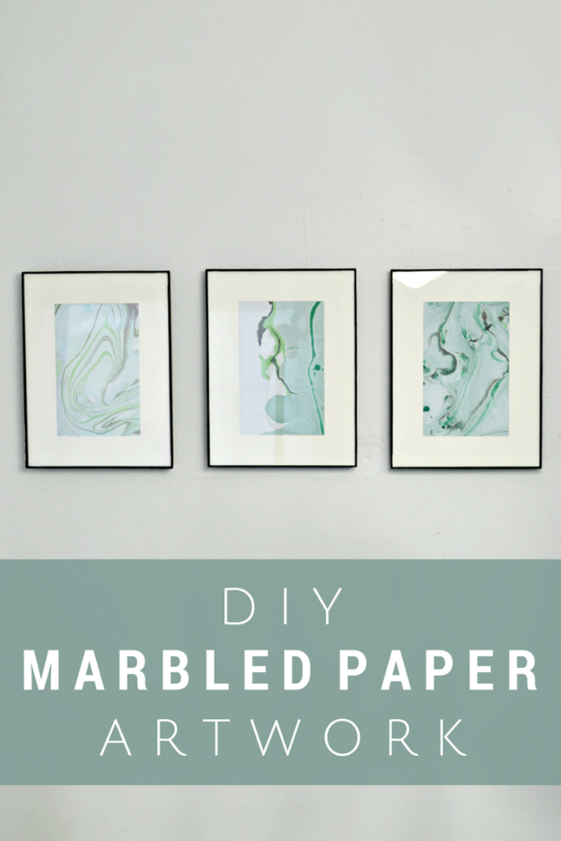DIY Nail Polish Crafts - DIY Marbled Paper Artwork - Easy and Cheap Craft Ideas for Girls, Teens, Tweens and Adults | Fun and Cool DIY Projects You Can Make With Fingernail Polish - Do It Yourself Wire Flowers, Glue Gun Craft Projects and Jewelry Made From nailpolish - Water Marble Tutorials and How To With Step by Step Instructions s