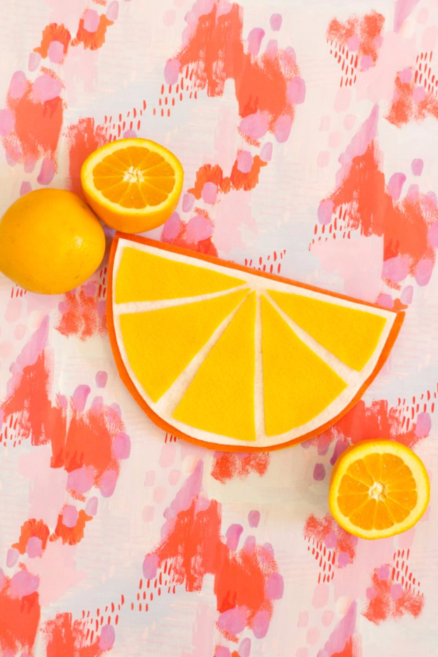 DIY Purses and Handbags - DIY No Sew Fruity Foldover Pouch - Homemade Projects to Decorate and Make Purses - Add Paint, Glitter, Buttons and Bling To Your Hand Bags and Purse With These Easy Step by Step Tutorials - Boho, Modern, and Cool Fashion Ideas for Women and Teens #purses #diyclothes #handbags