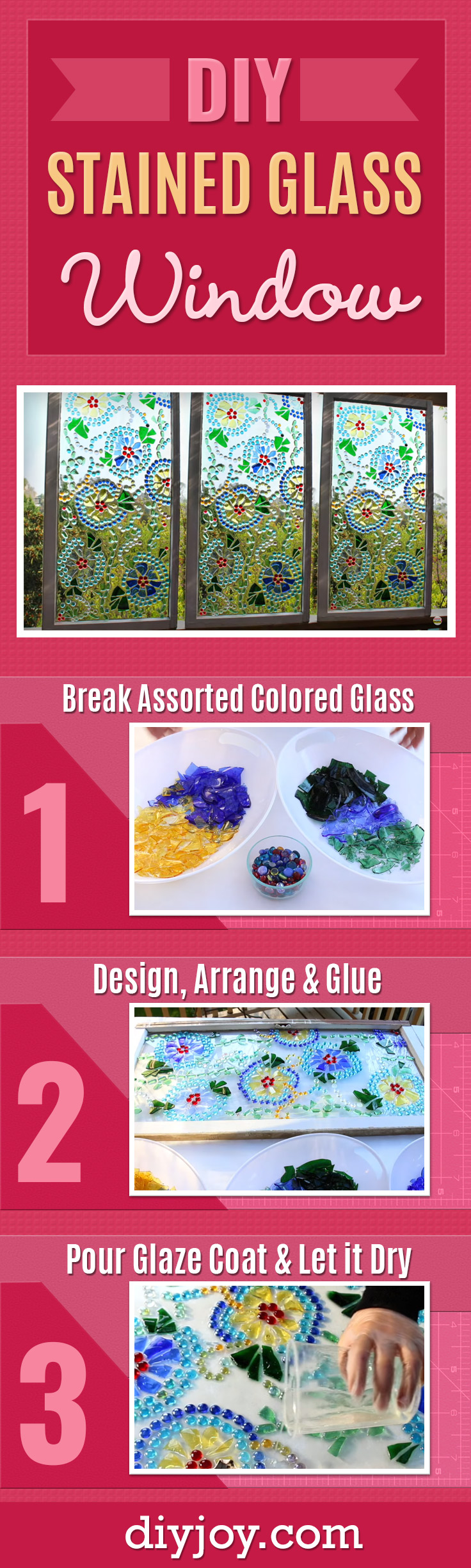 DIY Stained Glass Window - Cheap Home Decor Ideas on A Budget - How To Make Stained Glass Easy - DIY Christmas Gifts
