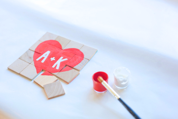 Best DIY Valentines Day Gifts - DIY Secret Message Puzzle - Cute Mason Jar Valentines Day Gifts and Crafts for Him and Her | Boyfriend, Girlfriend, Mom and Dad, Husband or Wife, Friends - Easy DIY Ideas for Valentines Day for Homemade Gift Giving and Room Decor | Creative Home Decor and Craft Projects for Teens, Teenagers, Kids and Adults