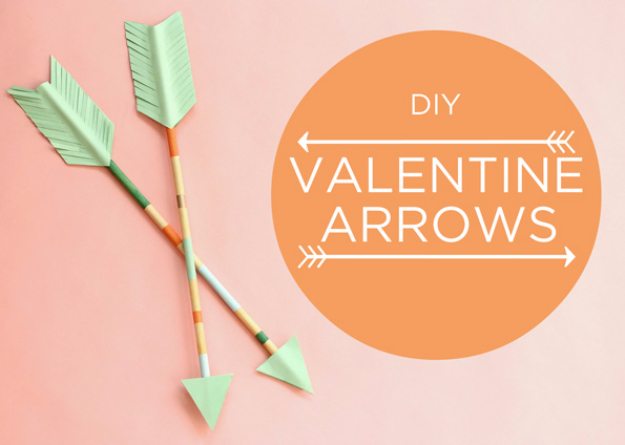 DIY Valentine Decor Ideas - DIY Valentine Arrows - Cute and Easy Home Decor Projects for Valentines Day Decorating - Best Homemade Valentine Decorations for Home, Tables and Party, Kids and Outdoor - Romantic Vintage Ideas - Cheap Dollar Store and Dollar Tree Crafts