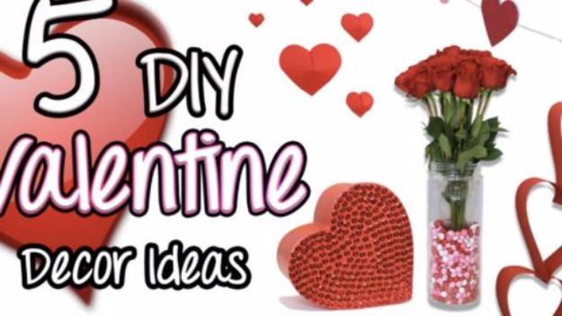 DIY Valentine Decor Ideas - DIY Valentine Decor - Cute and Easy Home Decor Projects for Valentines Day Decorating - Best Homemade Valentine Decorations for Home, Tables and Party, Kids and Outdoor - Romantic Vintage Ideas - Cheap Dollar Store and Dollar Tree Crafts