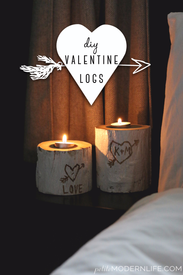 Best DIY Valentines Day Gifts - DIY Valentine Logs - Cute Mason Jar Valentines Day Gifts and Crafts for Him and Her | Boyfriend, Girlfriend, Mom and Dad, Husband or Wife, Friends - Easy DIY Ideas for Valentines Day for Homemade Gift Giving and Room Decor | Creative Home Decor and Craft Projects for Teens, Teenagers, Kids and Adults